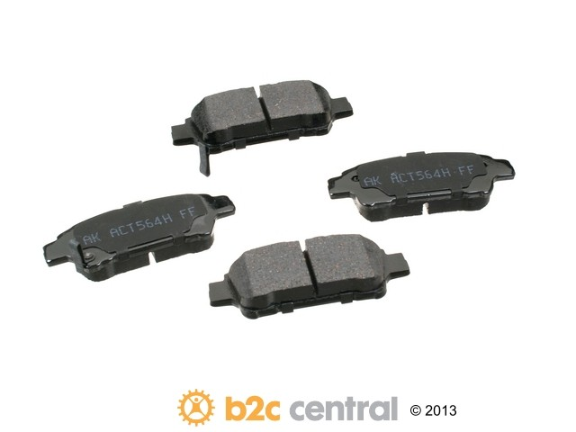 FBS - Akebono PRO-ACT Ultra-Premium OE Brake Pad Set Ceramic (Rear) - B2C W0133-1768426-AKE