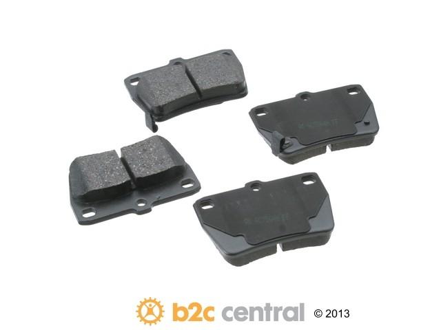 FBS - Akebono PRO-ACT Ultra-Premium OE Brake Pad Set Ceramic (Rear) - B2C W0133-1769852-AKE