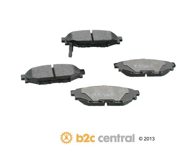FBS - Akebono PRO-ACT Ultra-Premium Brake Pad Set Ceramic (Rear) - B2C W0133-1772291-AKE
