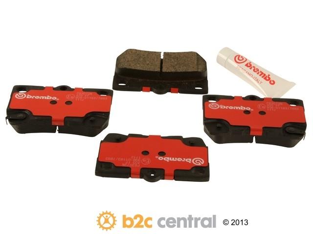 FBS - Brembo Ceramic Brake Pad Set With Shims (Rear) - B2C W0133-1777426-BRE