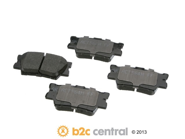 FBS - Akebono PRO-ACT Ultra-Premium OE Brake Pad Set Ceramic (Rear) - B2C W0133-1789198-AKE