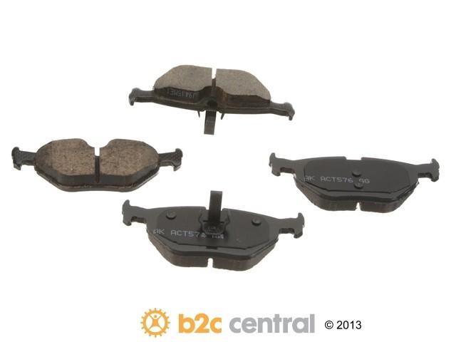 FBS - Akebono EURO Ultra-Premium Brake Pad Set Ceramic (Rear) - B2C W0133-1789401-AKE