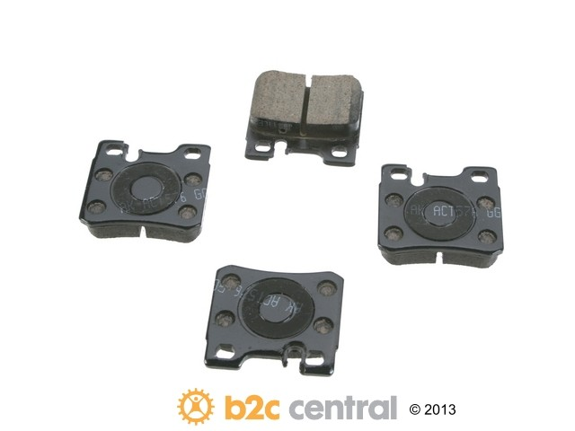 FBS - Akebono EURO Ultra-Premium Brake Pad Set Ceramic (Rear) - B2C W0133-1789511-AKE