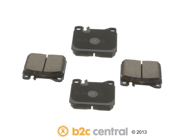 FBS - Akebono EURO Ultra-Premium Brake Pad Set Ceramic (Front) - B2C W0133-1789629-AKE