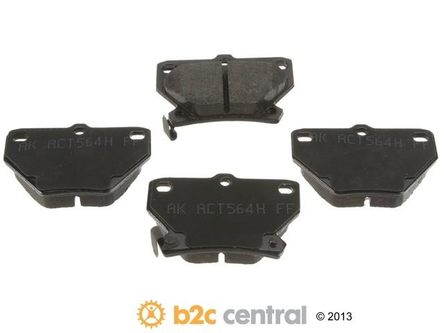 FBS - Akebono PRO-ACT Ultra-Premium Brake Pad Set Ceramic (Rear) - B2C W0133-1789762-AKE