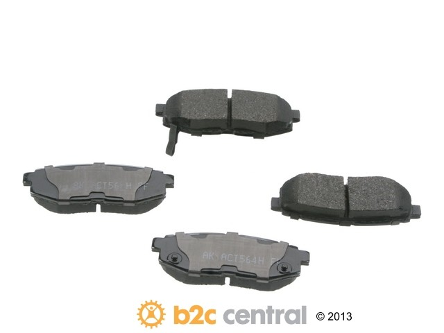 FBS - Akebono PRO-ACT Ultra-Premium OE Brake Pad Set Ceramic (Rear) - B2C W0133-1791264-AKE
