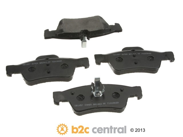 FBS - PBR Deluxe Brake Pad Set w/o Shims (Rear) - B2C W0133-1791783-PBR