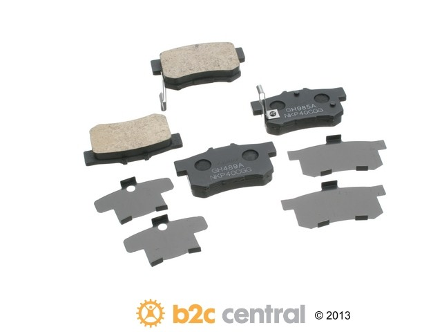 FBS - Nissin OE Replacement Brake Pad Set w/ Shims (Rear) - B2C W0133-1791787-NIS