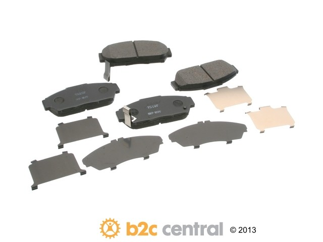 FBS - Nissin Premium Brake Pad Set With Shims (Front) - B2C W0133-1791799-NIS