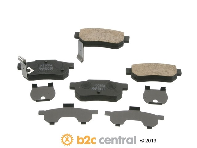 FBS - Nissin Premium Brake Pad Set With Shims (Rear) - B2C W0133-1791800-NIS