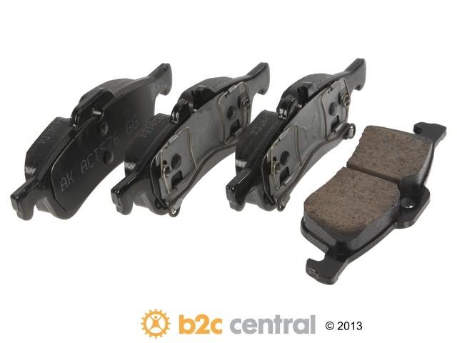 FBS - Akebono EURO Ultra-Premium Brake Pad Set Ceramic (Rear) - B2C W0133-1792179-AKE