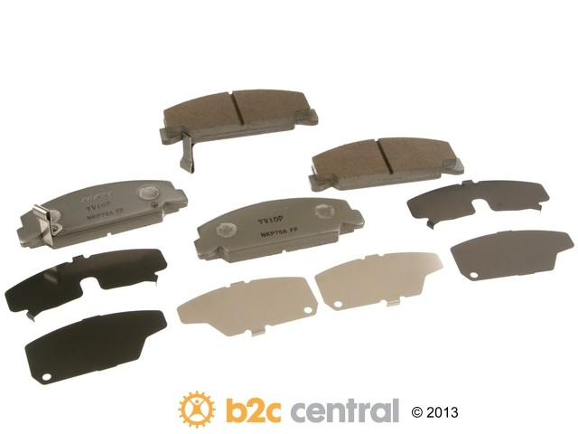 FBS - Nissin Silver Sport Brake Pad Set With Shims (Front) - B2C W0133-1792205-NIS