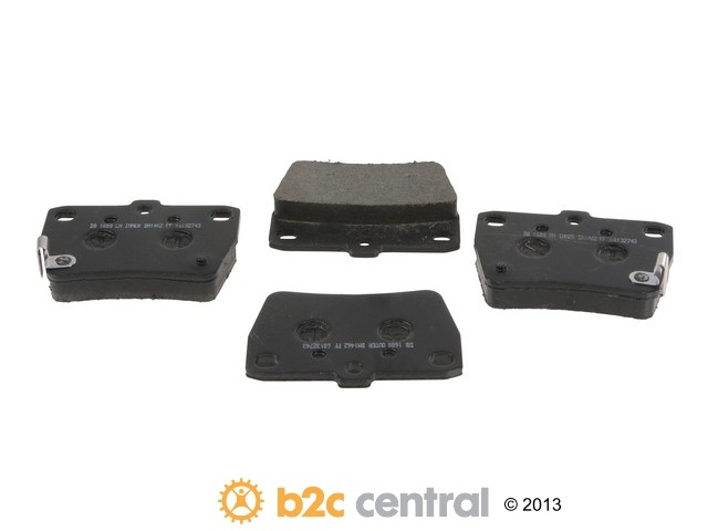 FBS - PBR Deluxe Brake Pad Set w/o Shims (Rear) - B2C W0133-1792348-PBR