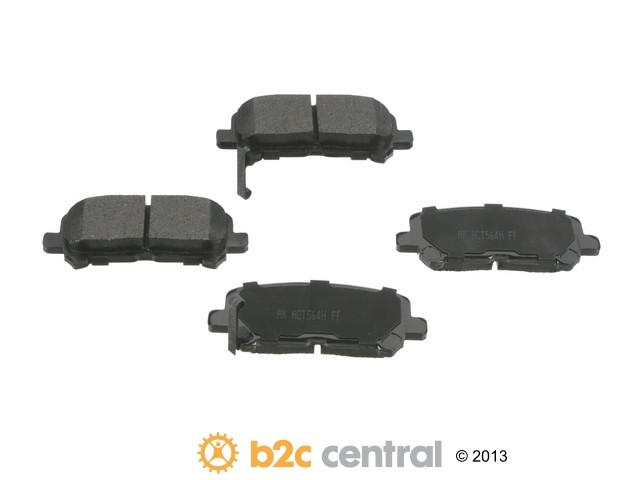 FBS - Akebono PRO-ACT Ultra-Premium Brake Pad Set Ceramic (Rear) - B2C W0133-1793170-AKE