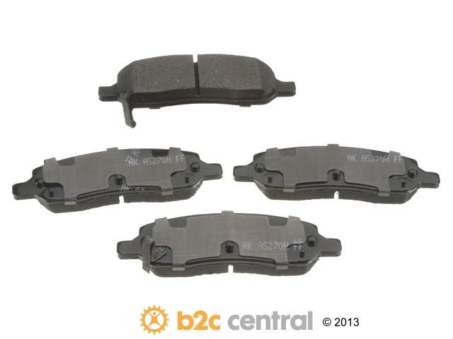 Akebono -  PRO-ACT Ultra-Premium OE Brake Pad Set Ceramic (Rear) - B2C W0133-1794262-AKE