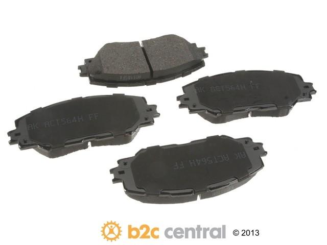 FBS - Akebono PRO-ACT Ultra-Premium Brake Pad Set Ceramic (Front) - B2C W0133-1794280-AKE