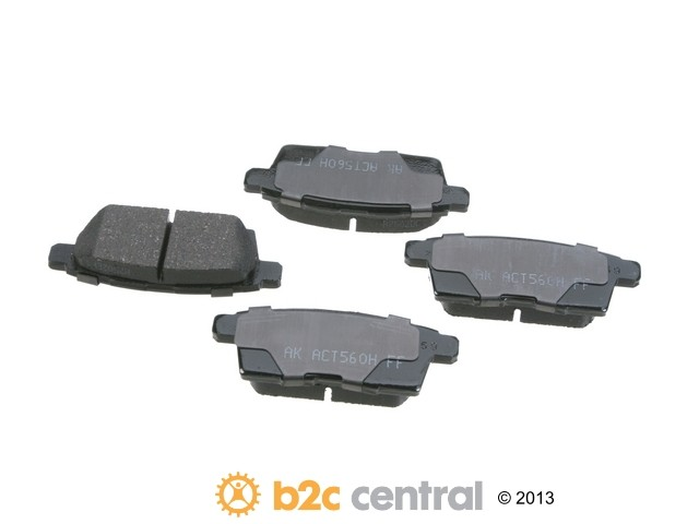 FBS - Akebono PRO-ACT Ultra-Premium Brake Pad Set Ceramic (Rear) - B2C W0133-1794287-AKE