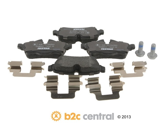 FBS - Textar OE Formulated Brake Pad Set With Shims (Rear) - B2C W0133-1814320-TEX