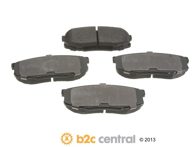FBS - Akebono PRO-ACT Ultra-Premium OE Brake Pad Set Ceramic (Rear) - B2C W0133-1814756-AKE