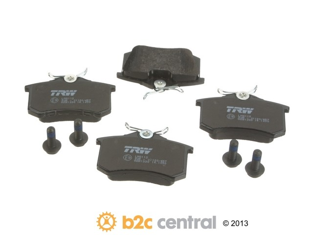 FBS - TRW OE Formulated Brake Pad Set With Shims (Rear) - B2C W0133-1821052-TRW