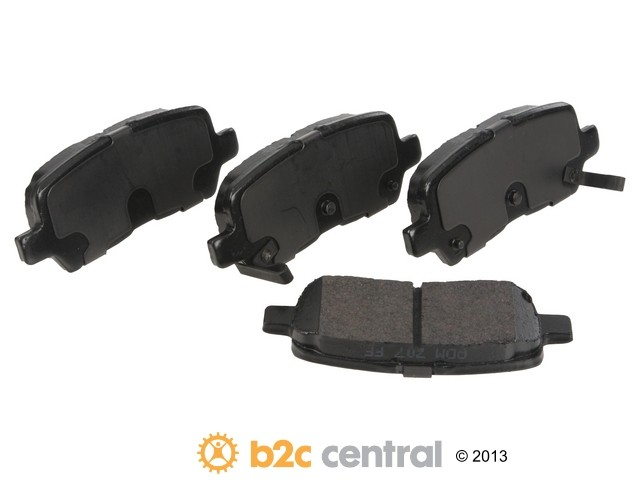 FBS - PBR Deluxe Brake Pad Set w/o Shims (Rear) - B2C W0133-1827221-PBR