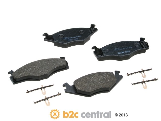 FBS - Textar OE Replacement Brake Pad Set w/ Shims (Front) - B2C W0133-1834223-TEX