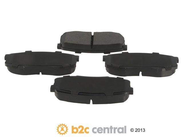 FBS - Advics Ceramic Brake Pad Set w/ Shims (Rear) - B2C W0133-1840178-ADV