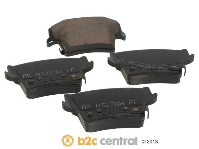 FBS - Akebono PRO-ACT Ultra-Premium Brake Pad Set Ceramic (Rear) - B2C W0133-1843096-AKE