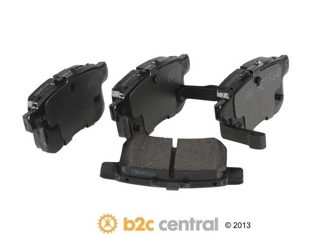 FBS - Akebono PRO-ACT Ultra-Premium Brake Pad Set Ceramic (Rear) - B2C W0133-1844843-AKE