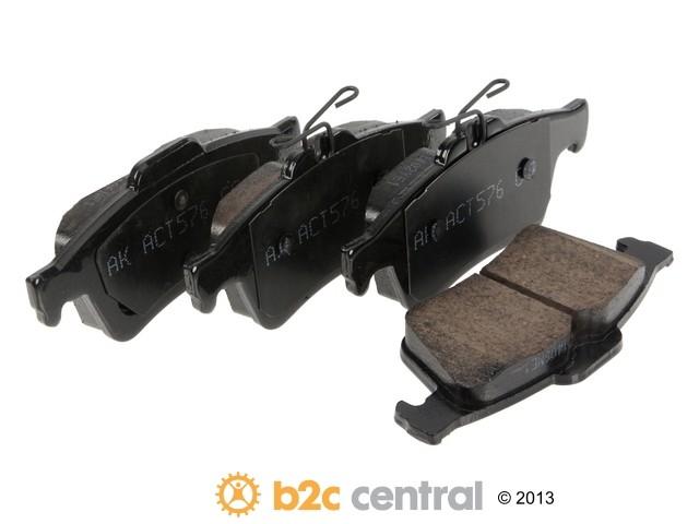 FBS - Akebono EURO Ultra-Premium Brake Pad Set Ceramic (Rear) - B2C W0133-1847635-AKE