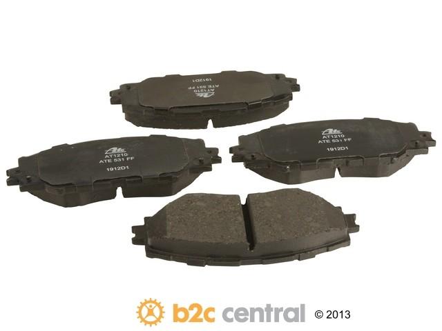 FBS - ATE Premium One Ceramic Brake Pad Set With Shims (Front) - B2C W0133-1855428-APC