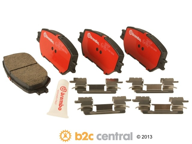 FBS - Brembo Ceramic OE Formulated Brake Pad Set w/ Shims (Front) - B2C W0133-1893588-BRE