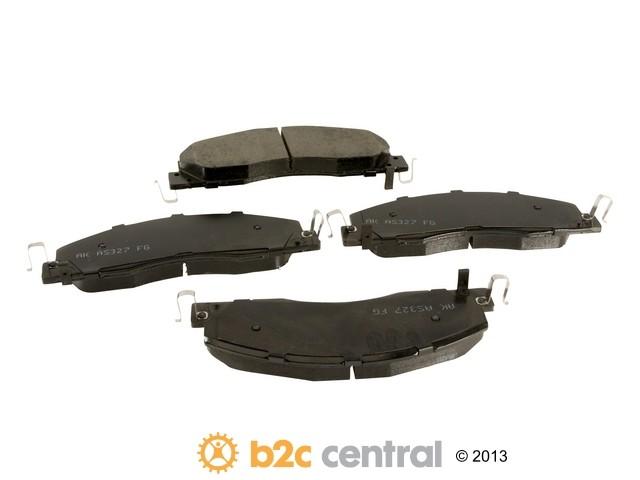 FBS - Akebono PRO-ACT Ultra-Premium Brake Pad Set Ceramic (Front) - B2C W0133-1918997-AKE