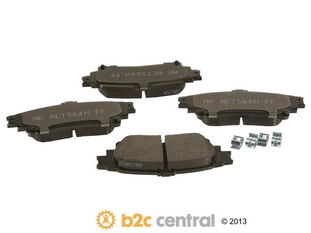 Akebono -  PRO-ACT Ultra-Premium OE Brake Pad Set Ceramic (Rear) - B2C W0133-1934604-AKE