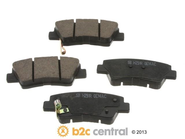 FBS - Sangsin Ceramic Brake Pad Set With Shims (Rear) - B2C W0133-1939092-SBC