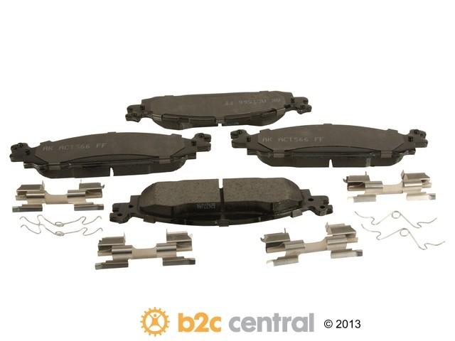 FBS - Akebono PRO-ACT Ultra-Premium Brake Pad Set Ceramic (Front) - B2C W0133-1948496-AKE