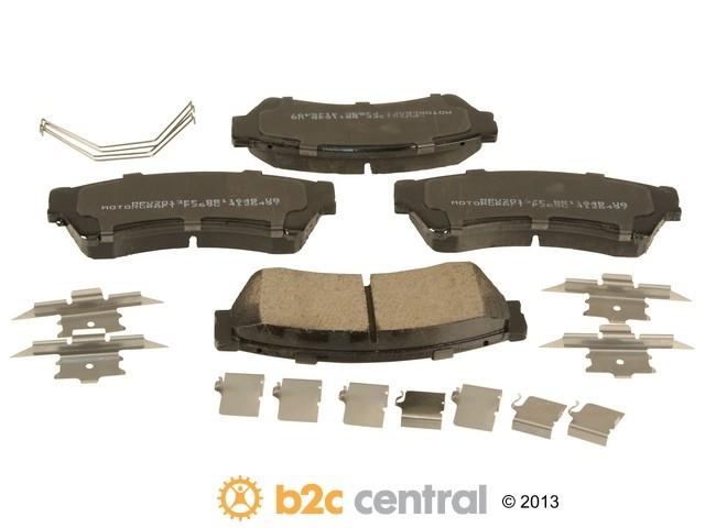 FBS - Motorcraft Standard Premium Brake Pad Set Organic w/ Shims (Front) - B2C W0133-1949168-MTR