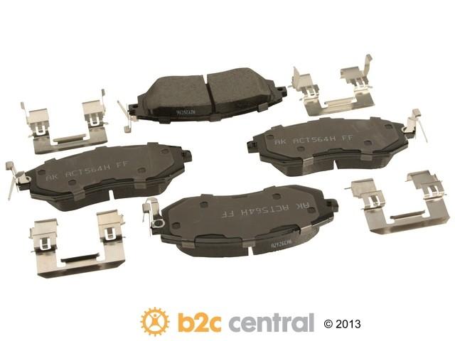 FBS - Akebono PRO-ACT Ultra-Premium Brake Pad Set Ceramic (Front) - B2C W0133-1951560-AKE