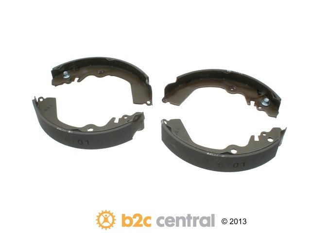 FBS - MK Kashiyama Drum Brake Shoe Set (Rear) - B2C W0133-1850877-MK