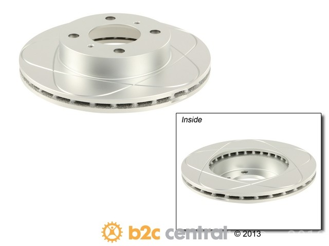 FBS - ATE Premium One Brake Disc Gas Slotted & Coated (Front) - B2C W0133-1625970-APO