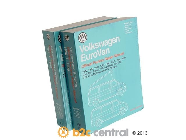 FBS - Bentley Paper Repair Manual VW EuroVan T4 - B2C W0133-1603876-BNT