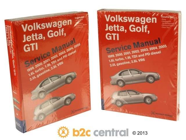 FBS - Bentley Paper Repair Manual VW Jetta/Golf/GTI A4 - B2C W0133-1610743-BNT