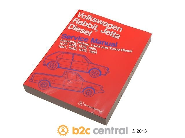 FBS - Bentley Paper Repair Manual VW Rabbit/Jetta A1 - B2C W0133-1621303-BNT