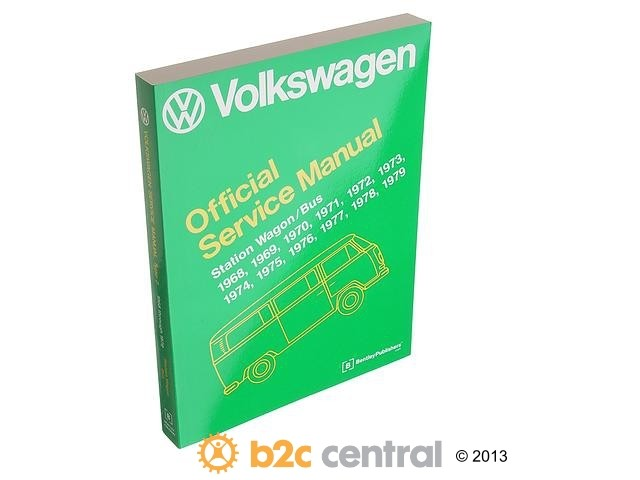 FBS - Bentley Paper Repair Manual VW Wagon/Bus Type 2 - B2C W0133-1623613-BNT