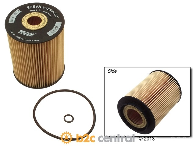 FBS - Hengst Insert Oil Filter Kit w/ O-Ring - B2C W0133-1630839-HEN