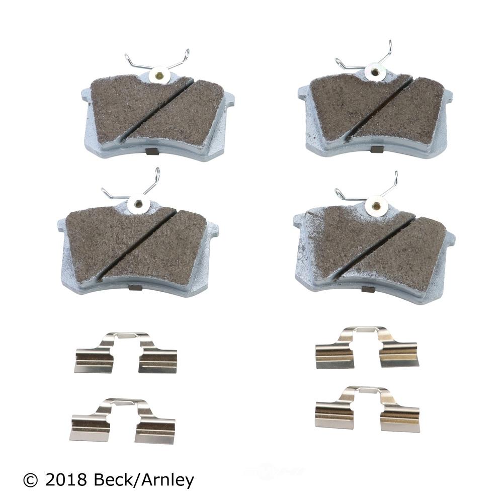 BECK/ARNLEY - Disc Brake Pad and Hardware Kit (Rear) - BAR 085-6325