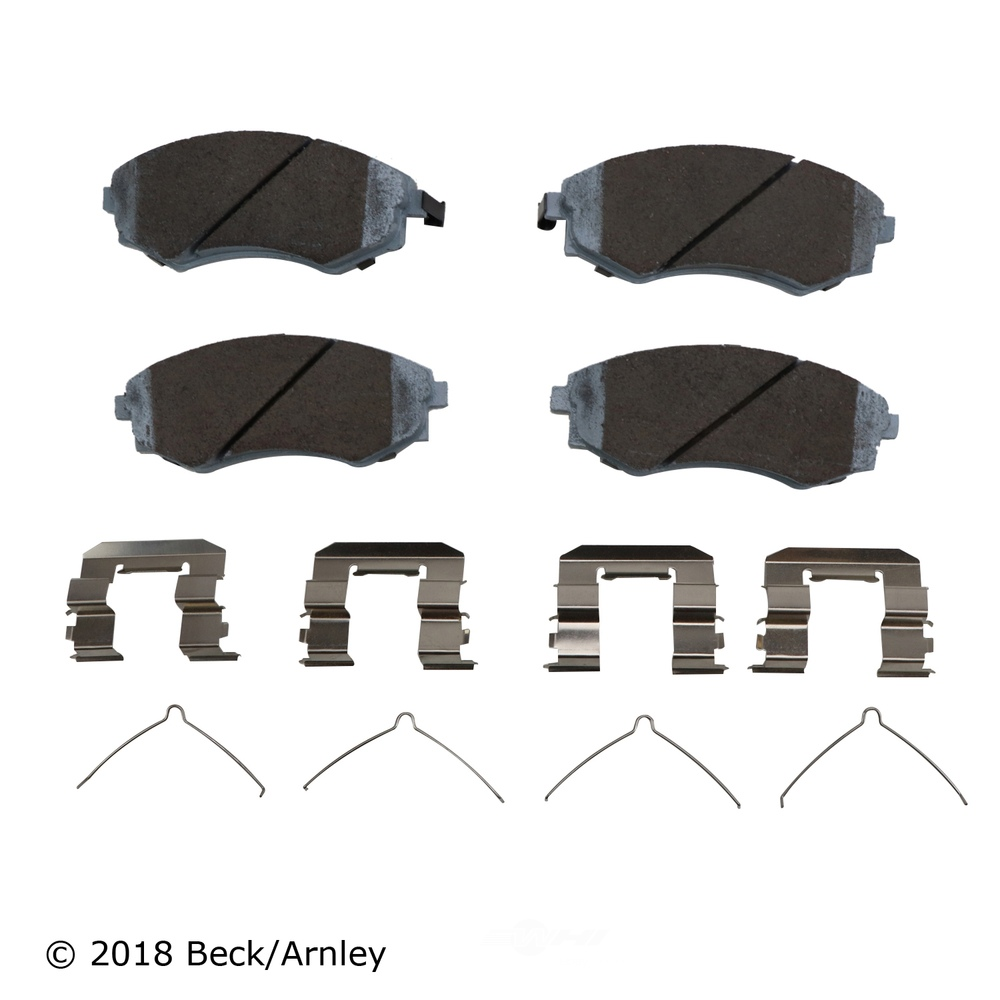 BECK/ARNLEY - Disc Brake Pad and Hardware Kit (Front) - BAR 085-6364