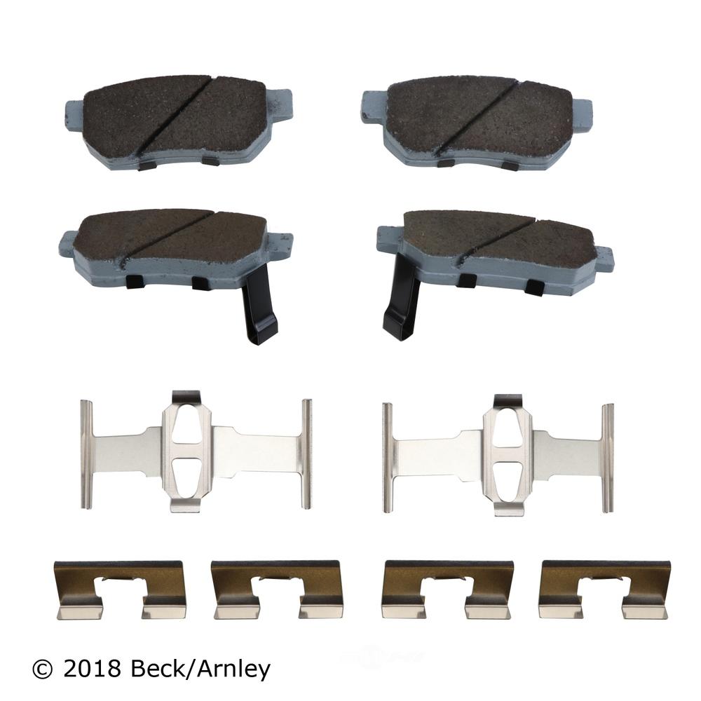 BECK/ARNLEY - Disc Brake Pad and Hardware Kit (Rear) - BAR 085-6431