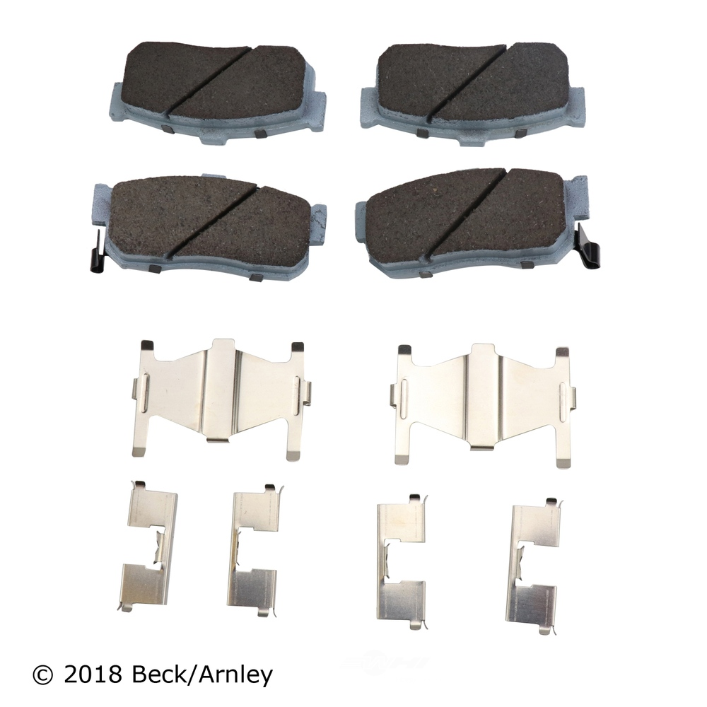 BECK/ARNLEY - Disc Brake Pad and Hardware Kit (Rear) - BAR 085-6447