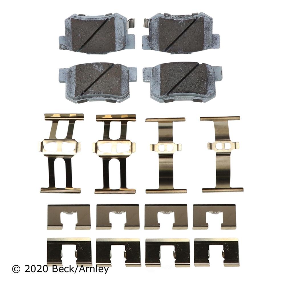 BECK/ARNLEY - Disc Brake Pad and Hardware Kit (Rear) - BAR 085-6467